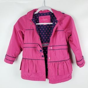 London Fog Fuscia Mid Weight Hooded Insulated